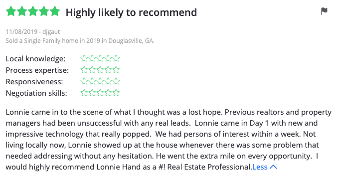 Lonnie Hand Best Realtor